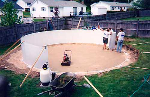 Above Ground Swimming Pool Installation Process Explained Slideshow Pools By J C Pools