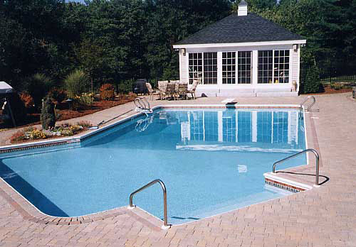 Building all shapes of in-ground pools -- J. C. Pools of So. Barre MA